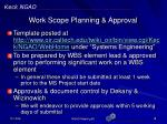 work scope planning approval