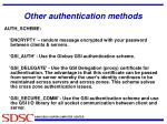 other authentication methods