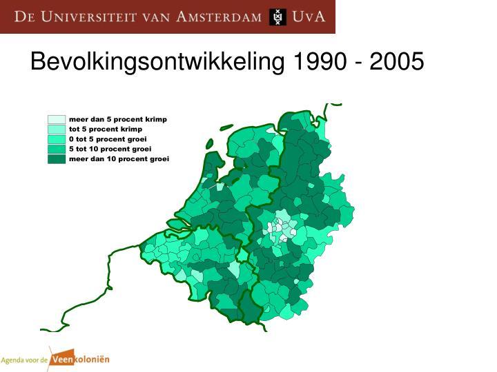 Bevolkingsontwikkeling 1990 2005