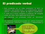 el predicado verbal