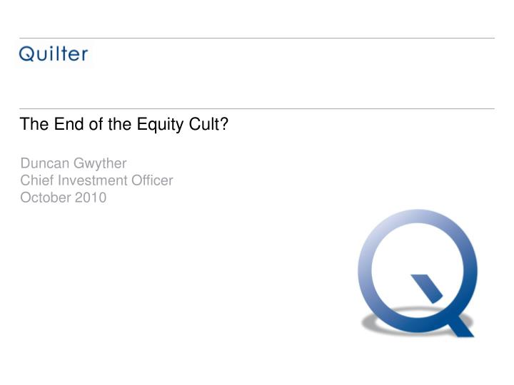 the end of the equity cult n.