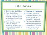 saif topics1