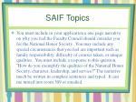 saif topics3