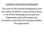 incidents and injured employees