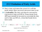 25 5 oxidation of fatty acids