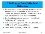 25 6 energy from fatty acid oxidation