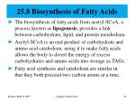 25 8 biosynthesis of fatty acids