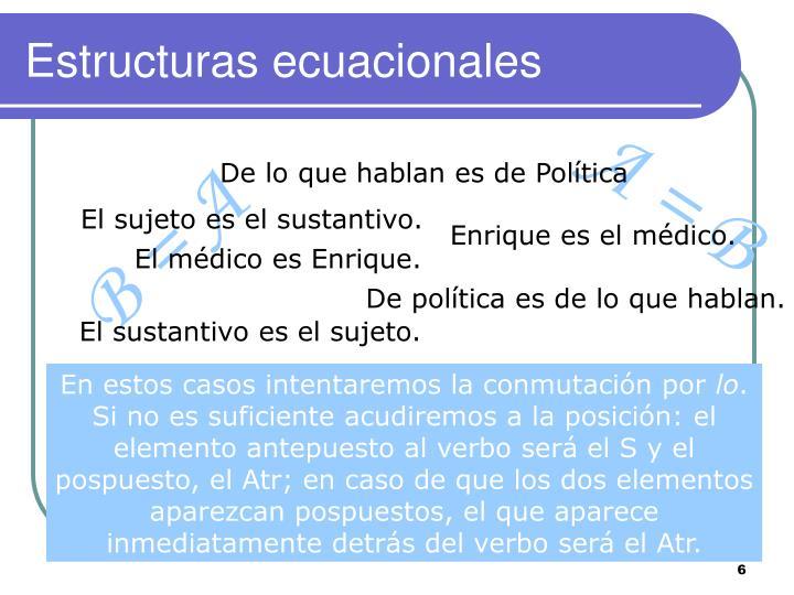 Estructuras ecuacionales