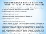 medidas propuestas por isps the international ship and port facility security code isps code