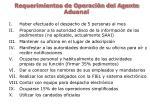 requerimientos de operaci n del agente aduanal