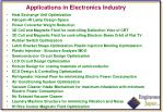 applications in electronics industry