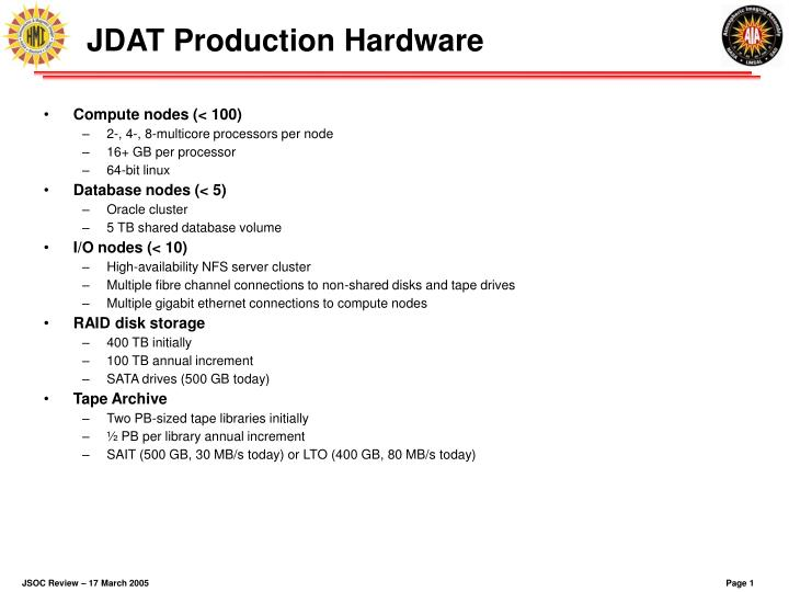 jdat production hardware n.