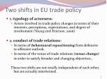 two shifts in eu trade policy