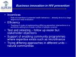 business innovation in hiv prevention