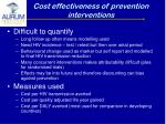 cost effectiveness of prevention interventions