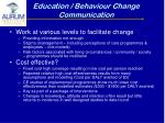 education behaviour change communication
