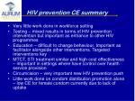 hiv prevention ce summary
