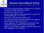 voluntary counselling testing