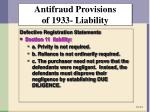 antifraud provisions of 1933 liability1