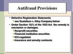 antifraud provisions