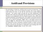 antifraud provisions1