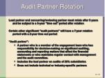 audit partner rotation