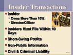 insider transactions