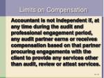 limits on compensation