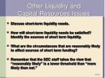other liquidity and capital resources issues