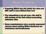 recent guidance on md a continued