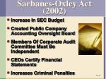 sarbanes oxley act 2002