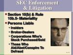sec enforcement litigation