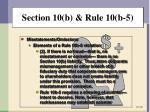section 10 b rule 10 b 51