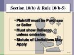 section 10 b rule 10 b 52