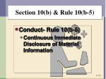 section 10 b rule 10 b 54