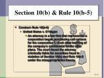 section 10 b rule 10 b 56
