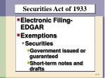 securities act of 19331