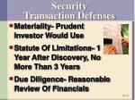 security transaction defenses
