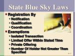 state blue sky laws