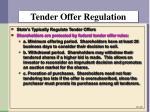 tender offer regulation1