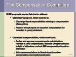 the compensation committee