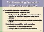 the nominating corporate governance committee