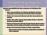 the nominating corporate governance committee1