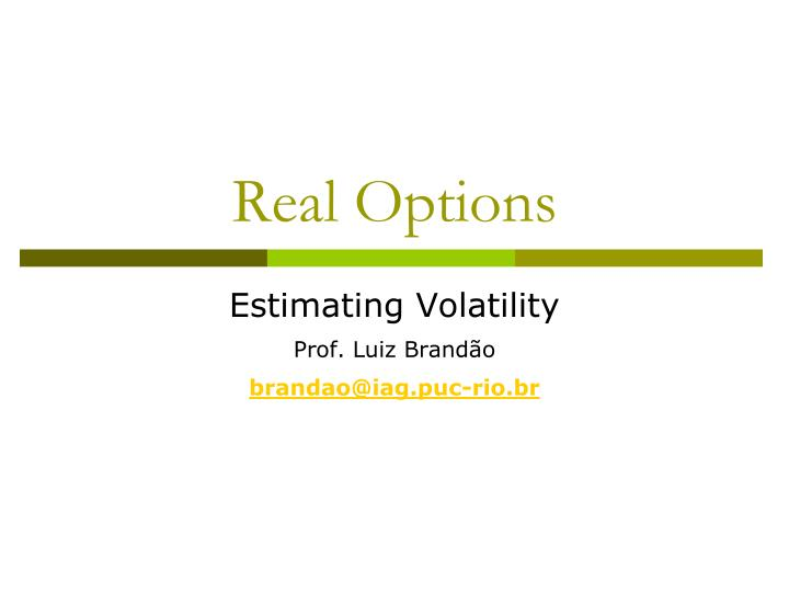 real options n.