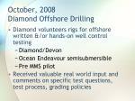 october 2008 diamond offshore drilling