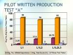 pilot written production test a