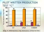 pilot written production test c