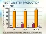 pilot written production test d