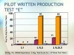 pilot written production test e