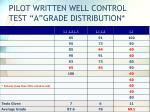 pilot written well control test a grade distribution